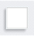 square white frame isolated on transparent vector image
