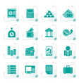 stylized bank and finance icons vector image vector image