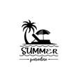 summer beach logo vector image vector image