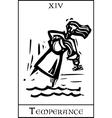 Temperance Tarot Card vector image vector image