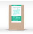 the original fresh mint chocolate craft paper bag vector image vector image