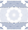 transparent white banner on square ornamental vector image