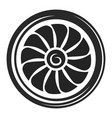 turbine black icon ecology and environment wind vector image vector image