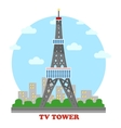 TV station and radio mast and tower for television vector image vector image