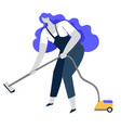 vacuum cleaning clean service or housewife vector image vector image