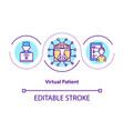 virtual patient concept icon vector image vector image