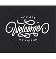 welcome lettering title vector image vector image