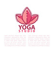yoga concept design template with copy space for vector image