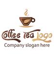 Coffee and tea logo design vector image