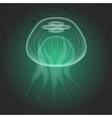 Jellyfish The underwater world vector image