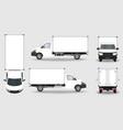 cargo truck van vector image