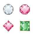 set of jewel vector image