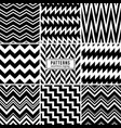 zigzag patterns black and white regular vector image