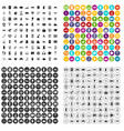 100 software engineering icons set variant vector image vector image