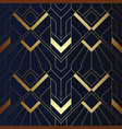 abstract art seamless blue and golden pattern 21 vector image vector image