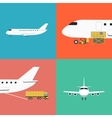 Air shipping and logistics icon set vector image vector image
