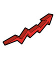 arrow increase isolated icon vector image vector image