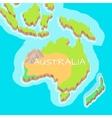 Australia Mainland Cartoon Relief Map vector image vector image