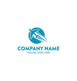 aviation and marine logo template vector image vector image