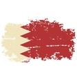bahrain grunge flag vector image vector image