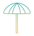 beach umbrella protection accessory symbol vector image vector image