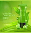 beauty product advertising concept for cosmetic vector image vector image