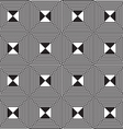 Black and white alternating squares four ray cut vector image vector image