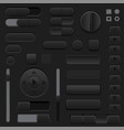 black interface buttons 3d set of ui icons vector image vector image