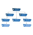 blue business structure concept vector image