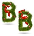 Christmas Alphabet B vector image
