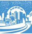 Christmas city vector image