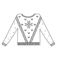 Christmas graphic sweater isolated on white vector image vector image