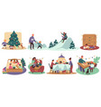 christmas holiday wintertime and family playing vector image