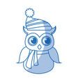 christmas owl character bird funny vector image vector image