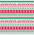 christmas seamless pattern winter holidays vector image vector image