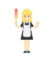 cleaning woman in uniform icon vector image