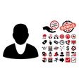 Client Flat Icon with Bonus vector image vector image