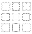 collection hand drawn ornamental square frames vector image