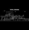 cordoba silhouette skyline spain - cordoba vector image vector image