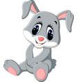 cute cartoon rabbit vector image vector image