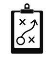 decision strategy icon simple style vector image