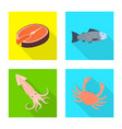 design of product and ocean symbol set of vector image
