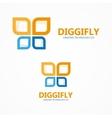 Digital butterfly logo vector image vector image
