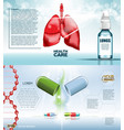 digital red medicine lungs structure vector image vector image