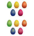 easter eggs icons set star pattern on easter eggs vector image vector image