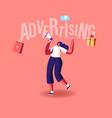 female promoter character advertising online