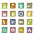 fire brigade icons set vector image vector image