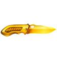 Golden knife vector image vector image