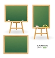 Green Board Set Different View vector image vector image