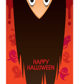 Halloween Ghost With Upside Down Head vector image vector image